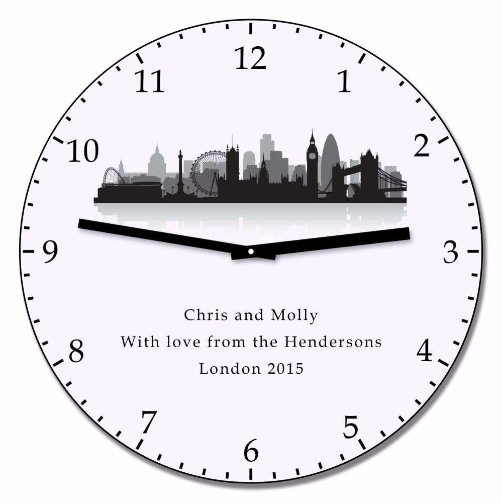 Personalised LONDON Wall Clock
