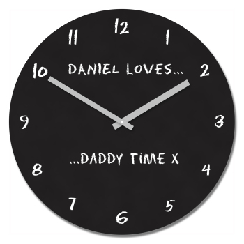 Personalised Loves Daddy Time Wall Clock