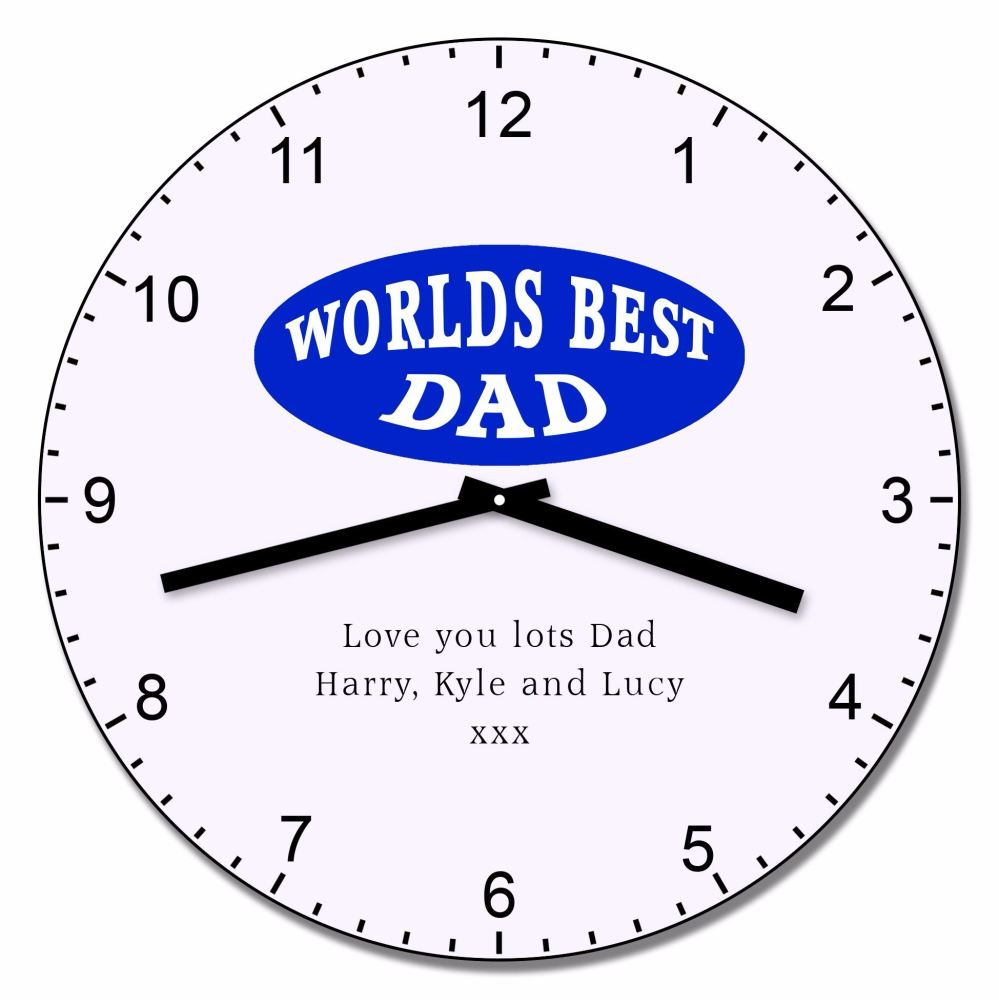 Personalised Worlds Best Dad Wall Clock