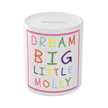 Personalised Dream Big Little....Money Box