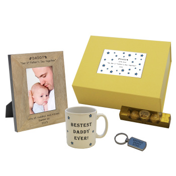 Personalised Our 1st Father's Day Together Gift Box