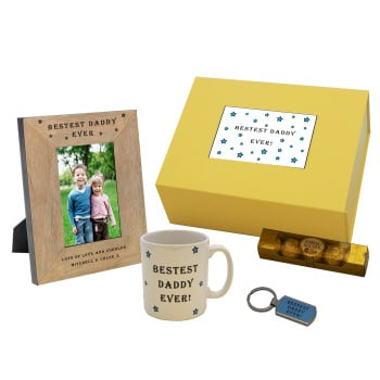Personalised Bestest Daddy Ever Gift Box