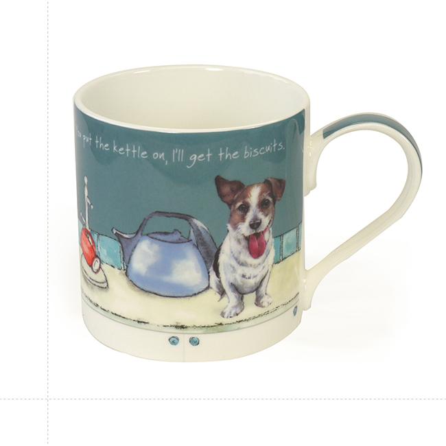 Fine Bone China Dog Mug – Kettle On