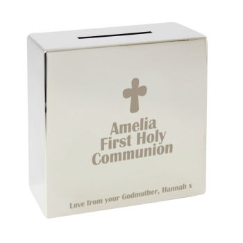 Personalised Cross Square Money Box