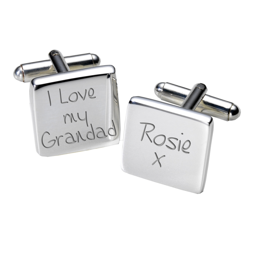 Personalised I Love My Grandad - Cufflinks
