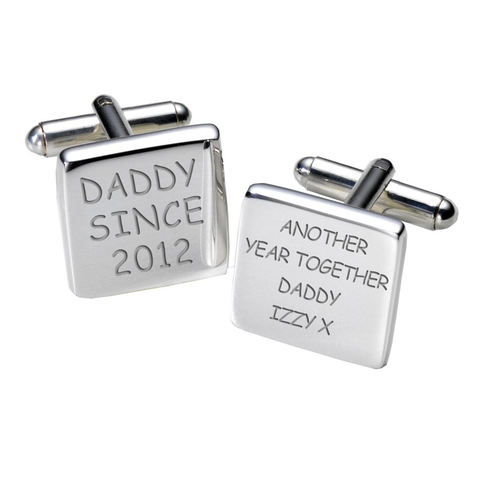 Personalised Daddy Since Cufflinks