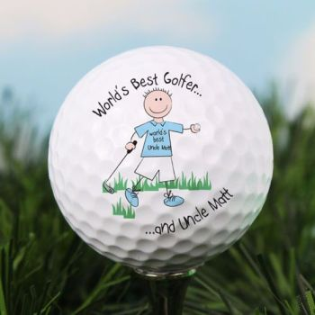 Personalised World's Best GOLF BALL