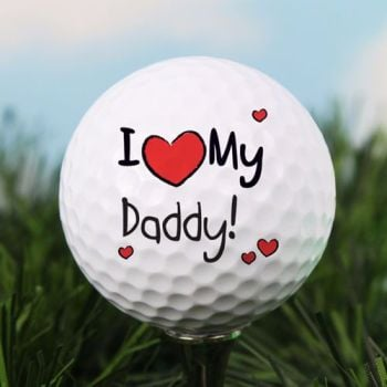 Personalised I HEART... GOLF BALL
