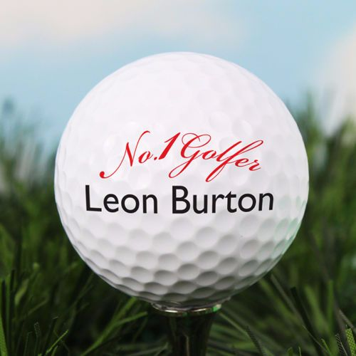 Personalised No.1 GOLF BALL