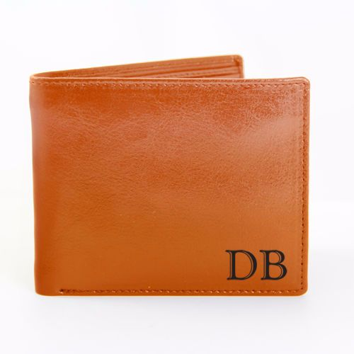 Personalised INITIAL LEATHER WALLET