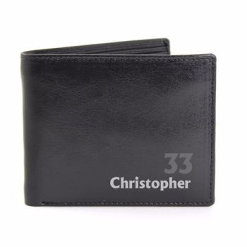 Personalised Age Leather Wallet