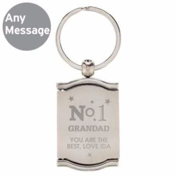 Personalised No1 Photo Keyring