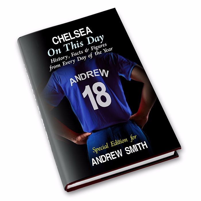 Personalised Chelsea on this Day Football Book