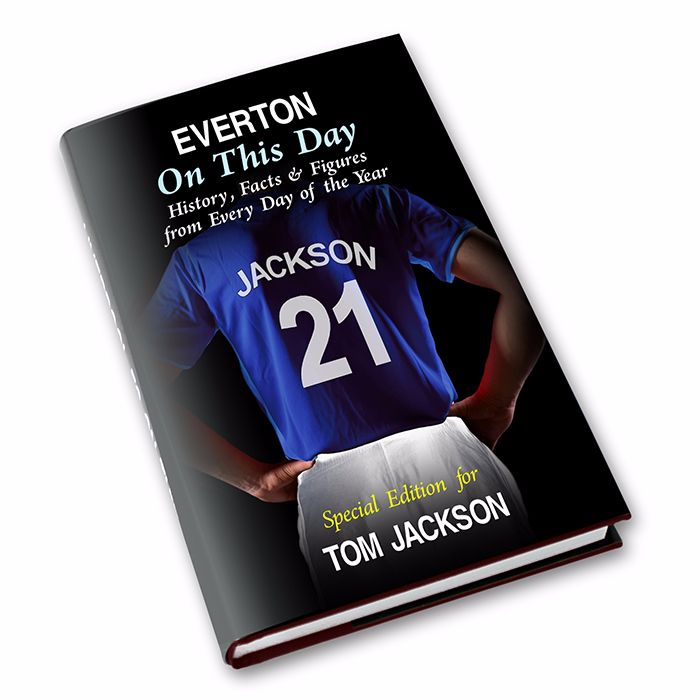 Personalised Everton on this Day Football Book