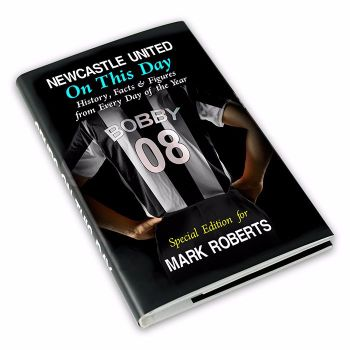 Personalised Newcastle on this Day Football Book