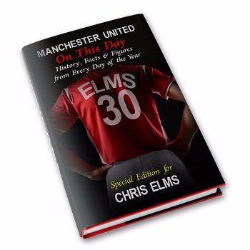 Personalised Manchester United on this Day Football Book