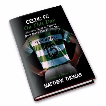 Personalised Celtic on this Day Football Book