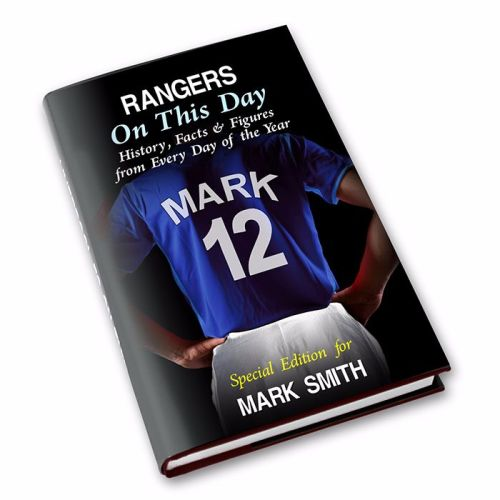 Personalised Rangers on this Day Football Book
