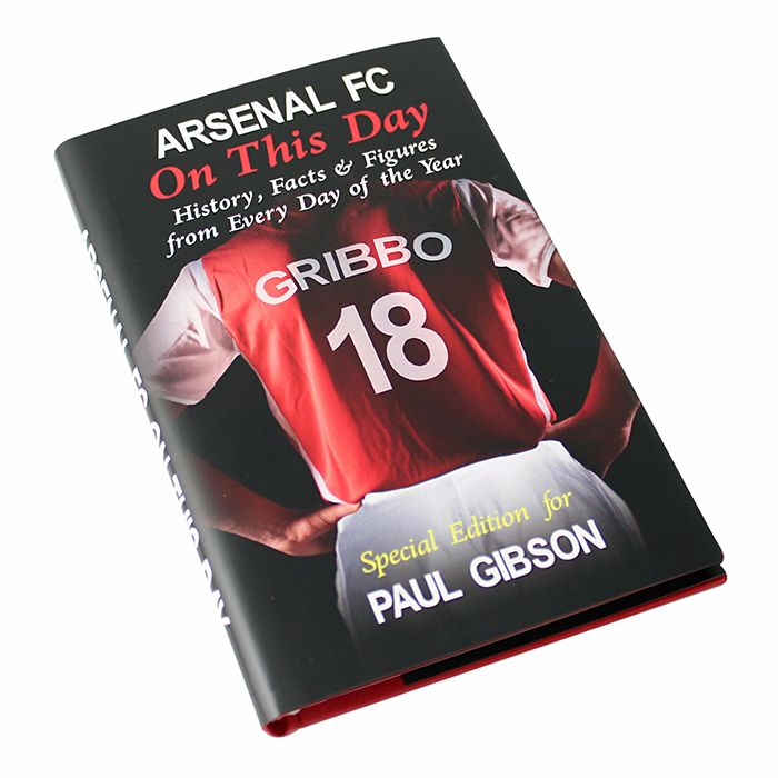 Personalised Arsenal on this Day Football Book