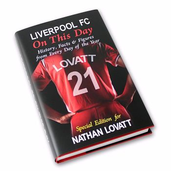 Personalised Liverpool on this Day Football Book