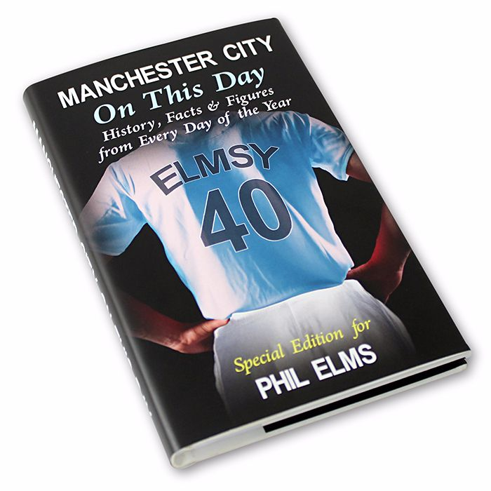 Personalised Manchester City on this Day Football Book