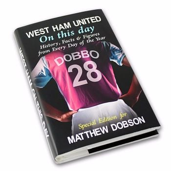 Personalised West Ham on this Day Football Book