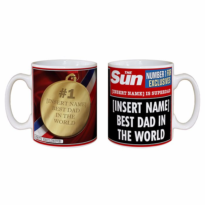 Personalised THE SUN Best Dad MUG