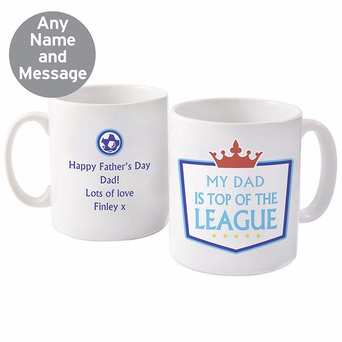 Personalised Top iof the League Mug