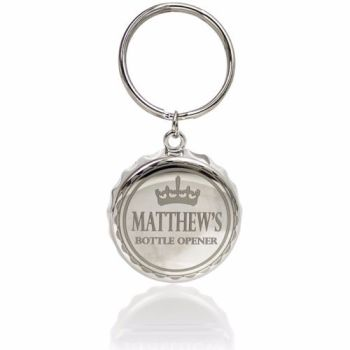 Personalised Bottle Top Keyring