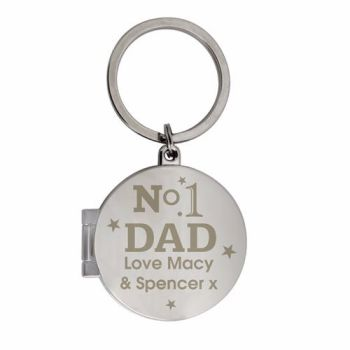 Personalised No.1 Photo Keyring