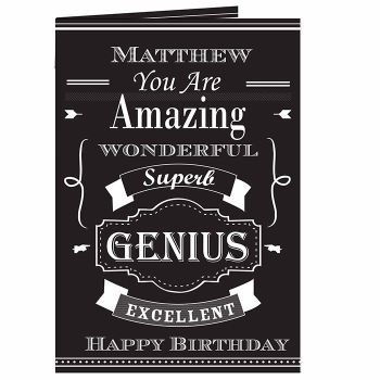Personalised Typography Card