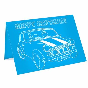 Personalised Mini Car Card