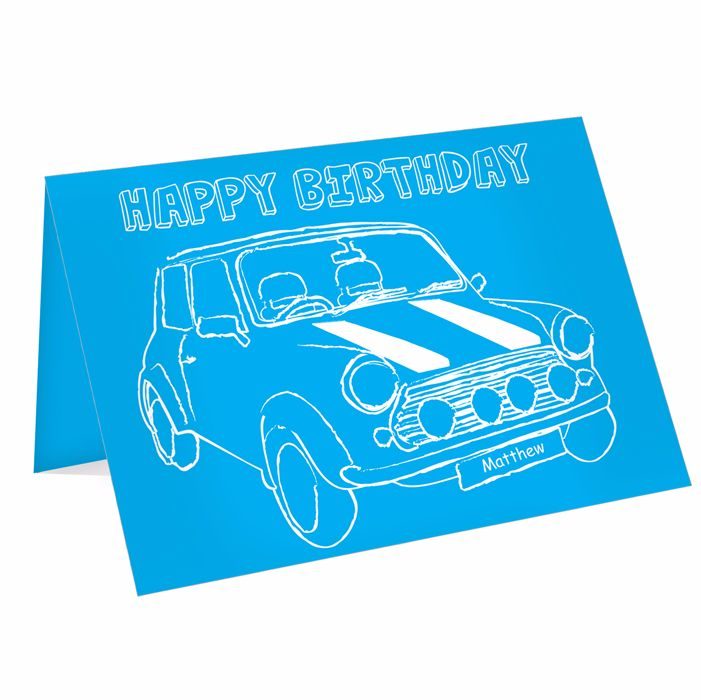 Personalised Card Ideal for Birthdays & Father's Day