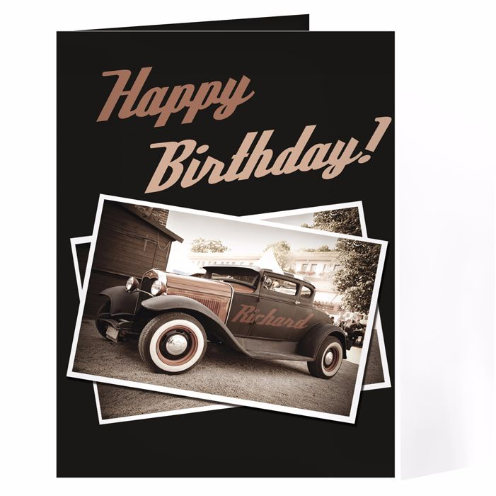 Personalised Classic Car Card Ideal For Birthdays Fathers Day