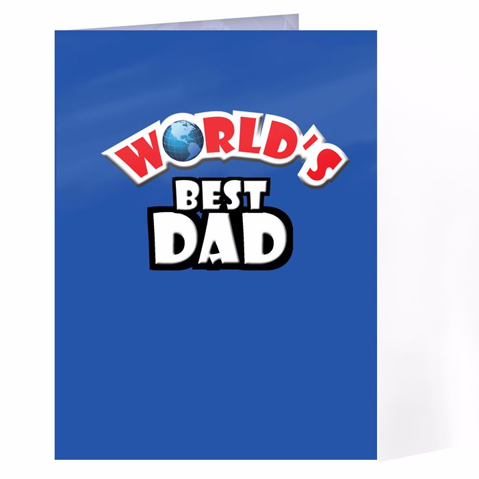 Personalised Worlds Best Card Ideal for Birthdays & Father's Day