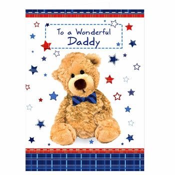 Personalised Teddy Bow Tie Card