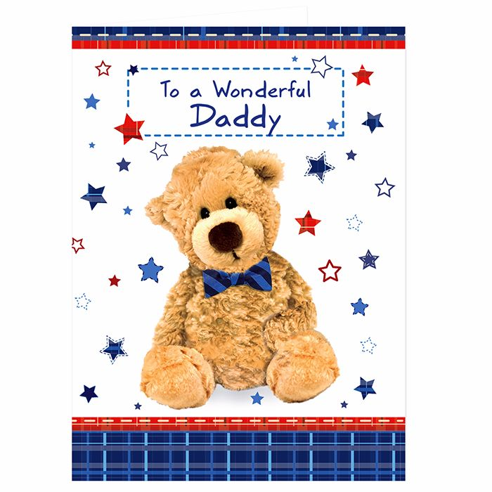 Personalised Teddy Bow Tie Card Ideal for Birthdays & Father's Day