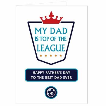 Personalised Top of League Card
