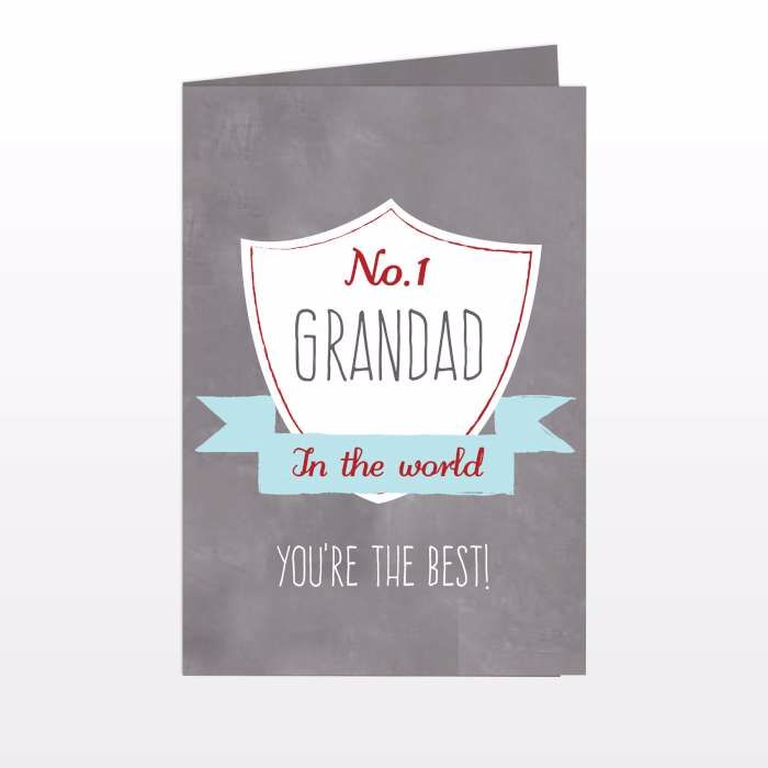 Personalised No.1 Sheild Card Ideal for Birthdays & Father's Day