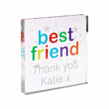 Personalised Best Friend Small Crystal Token