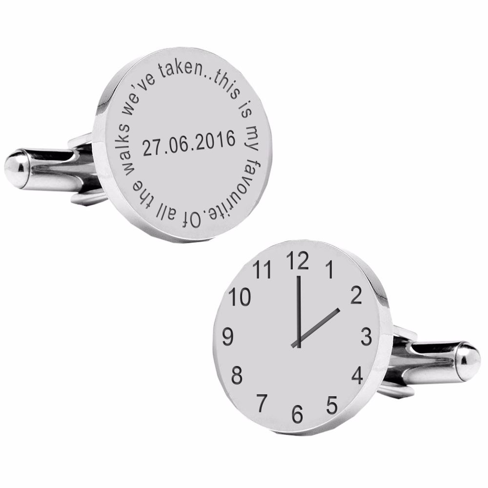 Of all the walks we've taken..special time cufflinks