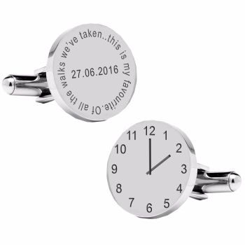 Personalised Of all the walks we've taken..special time cufflinks