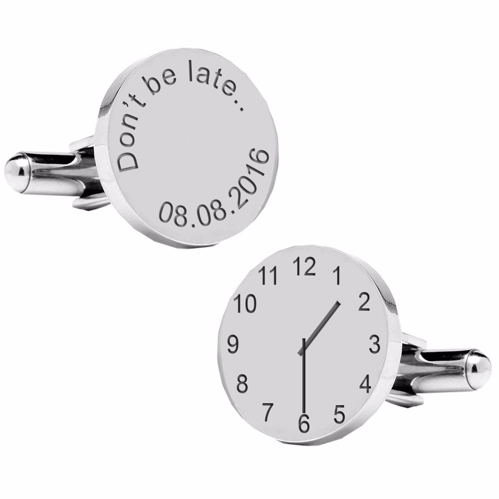 Don't be late..special time cufflinks