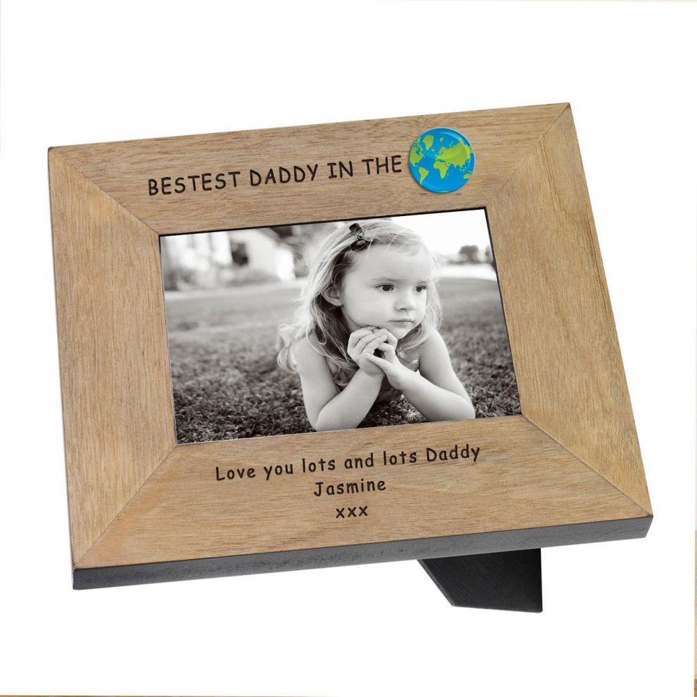 Personalised BEST DADDY in the WORLD Photo Frame 6