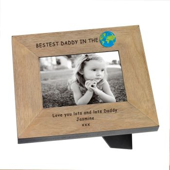 "Personalised BEST DADDY in the WORLD Photo Frame 6""x4"""