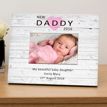 "Personalised NEW DADDY Photo Frame 6""x4"""