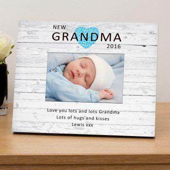 "Personalised NEW GRANDMA / NANNY Photo Frame 6""x4"""