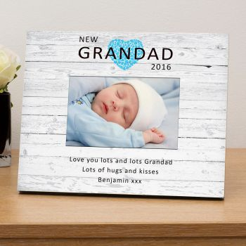 "Personalised NEW GRANDAD Photo Frame 6""x4"""