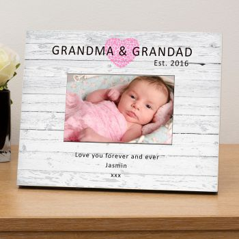"Personalised NEW GRANDMA & GRANDAD Photo Frame 6""x4"""