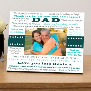 Personalised THANK YOU DAD Photo Frame 6x4